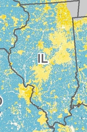 Illinois broadband service (zoomed in)