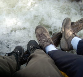 Gilbert Redman feet on honeymoon in 2006